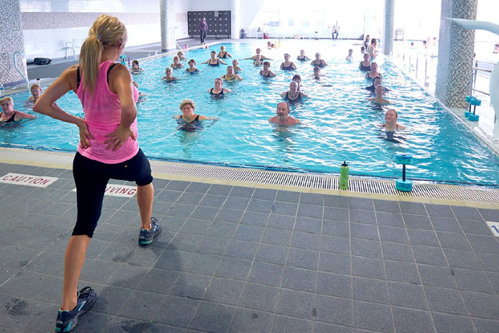 Water aerobics is something to look forward to at Strathalan Macleod