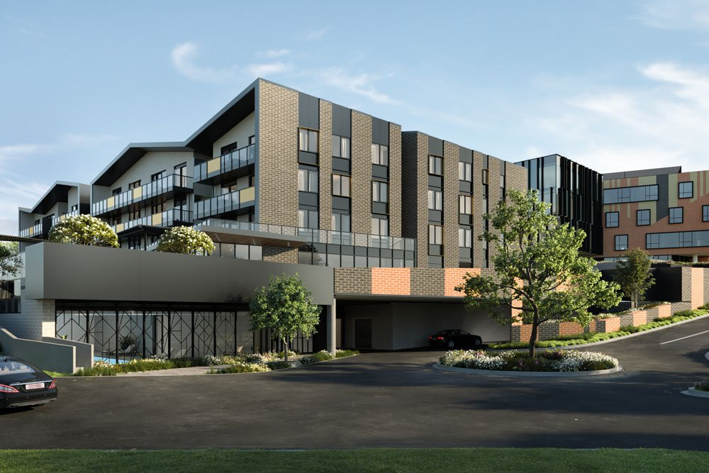 Exterior of Baptcare sister retirement community, The Orchards in Templestowe