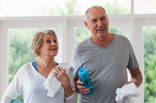 Baptcare, Strathalan (retirement living) - couple coming home from gym