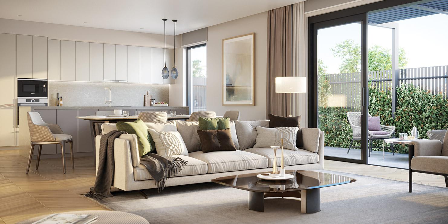 Baptcare, Strathalan (retirement living) - artist impression of living space