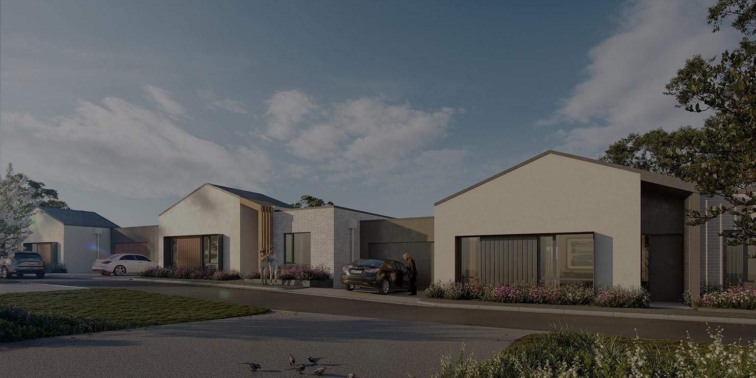 Baptcare, Strathalan (retirement living) - artist impression of Orchards apartments - artist impression of single floor villa